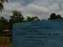 Photos : Mémorial de l'opération Genesis et acte de mémoire lors du festival des mémoires, Zone Humanitaire Nueva Vida, Cacarica, Chocó, mars 2019