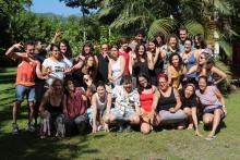 Photos : Première rencontre entre les trois équipes de terrain à Barrancabermeja, avril 2019 / Retraite du projet, juin 2019